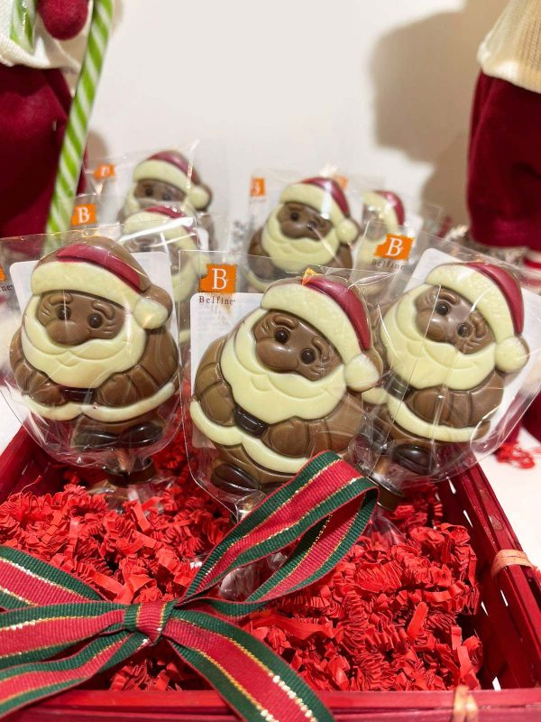 Sucette Père Noël en chocolat