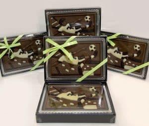 Coffret footballeur en chocolat