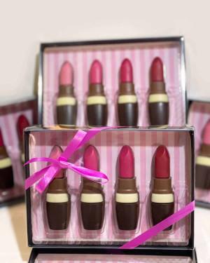 Coffret rouges à lèvre en chocolat