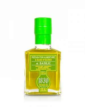 Huile d'olive vierge extra aromatisée au basilic