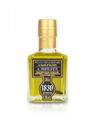 Huile d'olive vierge extra avec morceaux de truffe d'été de Provence