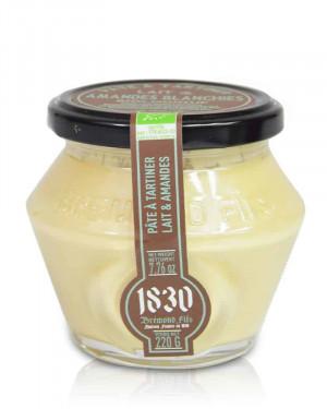 Pâte à tartiner BIO au lait & amandes blanchies